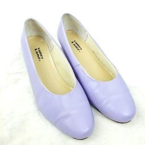 Valley Lane Lavender Leather Heels 9.5WW